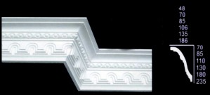 Large Tunnel and Egg Design Cornice