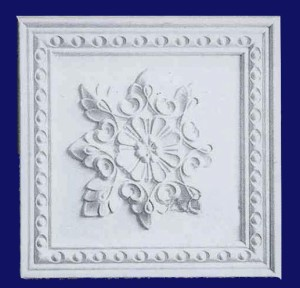Floral Plaque With Beaded Border