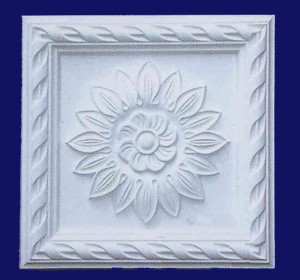 Floral Plaque With Scroll Border